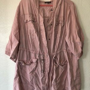 Pink Torrid Lightweight Zip Up Long sleeve Jacket